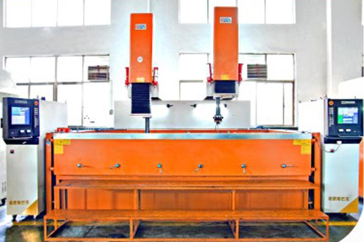 Double heads EDM CNC